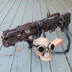 Steampunk Gun and Goggles HALO Nerf by oldjunkyardboutique on Etsy, $129.99