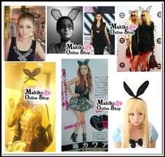 gal/gyaru だい好き PARTY / デート lace net ear ornaments bear rabbit ears_Accessories_★ Makiko Online Shop ☆ Japan Gal's Collection ★