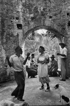 Saturday night dance at the tavern. Photograph by Wallace Kirkland. Jamaica, December 1952.