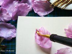 Silk Fantasy and...: Как сделать цветок из шелка?/ How to make a silk flower?