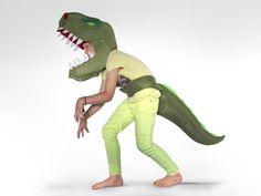 Dinosaurier-Kostüm, Tyrannosaurus-Rex, Dinokostüm von Designer Brause auf DaWanda.com