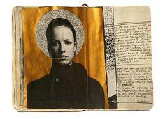 Juan Rayos art journal, mixed media