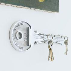 key shaped key rack! genius!