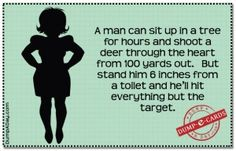 Men and targets Dump E-card