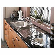 Astracast Teflite 1 Bowl Kitchen Sink w/Reversible Drainer Black ...
