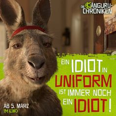 Movie: The Kangaroo Chronicles Movie: The Kangaroo Chronicles A communist kangaroo moves in with an artist in Berlin. Marc Uwe Kling, 2020 Movies, Motto, Kangaroo, Philosophy, Comedy, Lettering, Artist, Movie Posters
