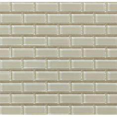 "$7.96/sq ft - Martini Mosaic Essen 1"" x 2"" Glass Subway Tile in Sand Castle & Reviews   Wayfair"