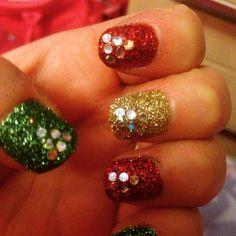 Christmas Day nail art