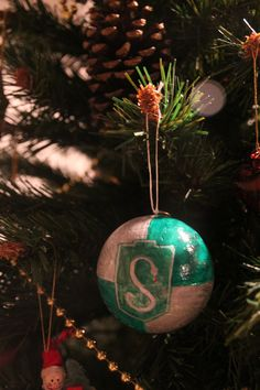 Slytherin Christmas ornaments