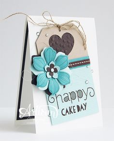 "Stampin' Cards and Memories: ""Happy Cake Day"" SU! Card by Inge Groot (Artisan~Design Team Card Making Inspiration, Making Ideas, Silhouette Cameo, Hand Stamped Cards, Stampin Up Catalog, Handmade Birthday Cards, Hamburger Box, Thing 1, Copics"