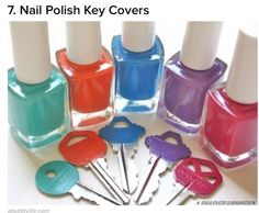 Differentiate keys by nail varnish colour
