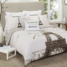 Single/Double/Queen/King Paris France Eiffel Tower Quilt Cover Set-Parisienne