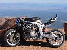 Guy Martin's turbo charged, Martek framed, GSX-R 1100 - prepared for 2014 Pike's Peak Hill Climb