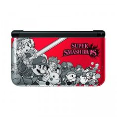 The Nintendo 3DS XL Super Smash Bros. Edition celebrates the launch of the game, Super Smash Bros for Nintendo 3DS. The limited-edition case features a dozen of the game's characters, including Mario, Link, Pikachu, and Little Mac.