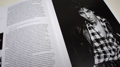 """A page from the """"360 Sound: The Columbia Records Story"""" book featuring Bruce Springsteen"""