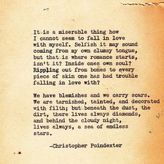 Love Christopher Poindexter's Poetry