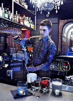 tattooed bartender
