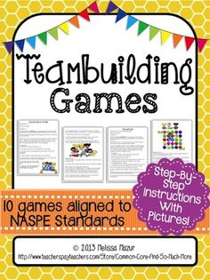 Team Building Games for the Classroom or Physical Education Class