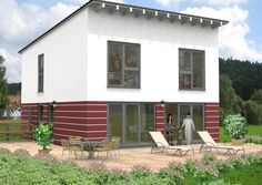 #Pultdachhaus im modernen #Design - Mehr Infos zum Thema #Hausbau unter: www.herwig-haus.de