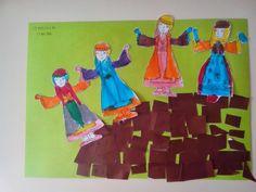 Maro's kindergarten: Κατασκευές για την 25η Μαρτίου: Οι Σουλιώτισσες Preschool, Outdoor Decor, Painting, Kindergarten, March, Preschools, Kid Garden, Painting Art, Paintings