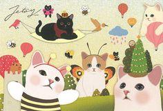 Jetoy Choo choo cat postcard - Party 1 by PCmarja2006, via Flickr