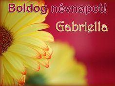 Boldog névnapot, Gabriella!