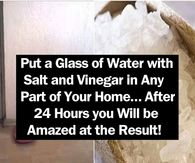 Put a Glass of Water with Salt and Vinegar in Any Part of Your Home After 24 Hours you Will be Amazed at the Result! beauty diy diy ideas health healthy living remedies remedy life hacks healthy lifestyle beauty tips apple cider vinegar good to know Good Morning Happy, Good Morning Picture, Morning Pictures, Good Morning Quotes, Morning Images, Saturday Pictures, Morning Gif, Night Pictures, Have A Nice Afternoon