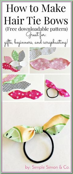 How to make hair ties with fabric a free tutorial to make knotted hair ties. The post How to make hair ties with fabric a free tutorial to make knotted hair ties. # appeared first on Hair Styles. Sewing Hacks, Sewing Tutorials, Sewing Crafts, Sewing Tips, Sewing Ideas, Sewing Basics, Basic Sewing, Sewing Patterns Free, Free Sewing