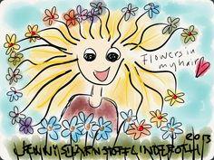 Rainbow Flowers in my hair!  Always bring the rainbow with you! stjarnstoff.wordpress.com