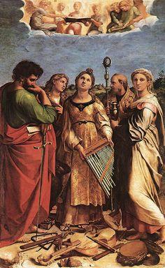 Raffaello, Estasi di Santa Cecilia, Pinacoteca Bologna via Wikipedia   Discovering Bologna's National Gallery (Pinacoteca Nazionale)