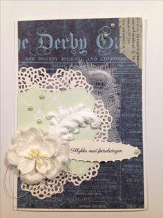 Tillykke med fødselsdagen kort. Dies:  Memorybox: Palace oval frame Tim Holtzh Sizzix: doily 661497 Cheery Lynn designs: pierced stalker #4