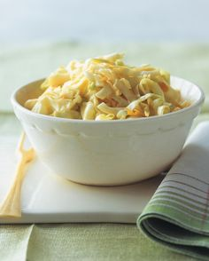 The classic slaw. This tangle of cabbage and carrot is dressed with a balance of tangy mustard, mayonnaise, and sour cream.