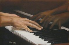La pianiste - Swaze, peintre pastelliste