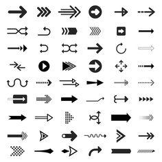 Collection of illustrated arrow signs Free Vector Map Design, Icon Design, Design Web, Arrow Doodle, Arrow Illustration, Hand Drawn Arrows, Internet Logo, Arrow Logo, Arrow Signs