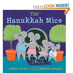 A girl named Rachel receives a dollhouse as a Hanukkah gift. She's not the only one who enjoys the house though. A family of mice become fond of it too. The Hannukah Mice, by Steven Kroll; by Michelle Shapiro. Available now in the library. Popular Kids Books, Best Children Books, Childrens Books, Hannukah, Happy Hanukkah, Kwanzaa, Jewish Hanukkah, First Night Of Hanukkah, Hanukkah Candles