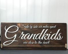 Grandkids Long Distance Gift Grandmother Gift Grandchildren   Etsy Christmas Gifts For Grandma, Homemade Christmas Gifts, Grandmother Gifts, Grandpa Gifts, Wood Picture Frames, Picture On Wood, Photo Display Board, Grandkids Sign, Long Distance Gifts