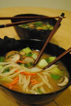 Veggie Undon Noodle Soup