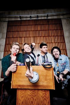 Ashton why,Luke your old, Calum the quiff,mikey my brother from another mother I love you too much