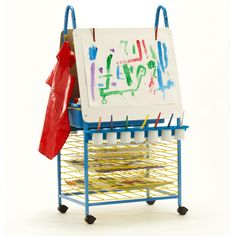. The Double Sided Art Easel culminates a collaborative and creative sensory station – a perfect addition to primary classrooms. With built-in drying racks, little Picasso's work won't be spread across the classroom. #PDR11