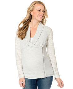 Motherhood Maternity Jacket, Zipper Detail French Terry