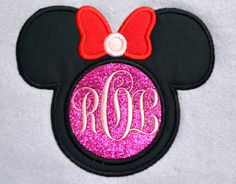 Girl Mouse with Circle for Monogram Applique by AppliquesByMe