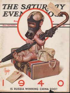 1939 LEYENDECKER BABY GAS MASK SUITCASE WAR NUDE COVER | eBay