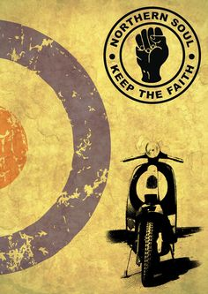 Northern Soul Mod Scooter Poster