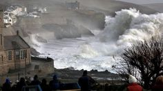 Wild waters at Porthleven in West Cornwall feb 8 during Storm Imogen, Mother Nature showing us who's boss! A stunning photo by Paul Silvers via BBC Weather. Cornwall England, England Uk, West Cornwall, Oxford England, Yorkshire England, Yorkshire Dales, London England, Uk Weather, England And Scotland