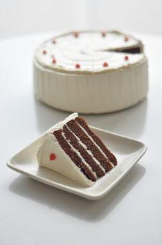 Thiebaud Cake (layers of chocolate cake, coffee ganache, and vanilla buttercream) Modern Art Desserts by Caitlin Freeman for SFMoMA.