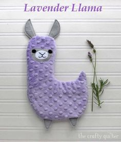 Lavender Llama, hot/cold plush tutorial - The Crafty Quilter Fabric Pen, Minky Fabric, Fabric Samples, Sewing For Kids, Baby Sewing, Tissu Minky, Water Soluble Fabric, Sewing Projects For Beginners, Quilting Tips