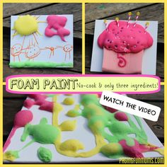 Easy DIY Foam Paint-->fun craft idea for any day of the week!