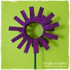 toilet paper roll crafts   Toilet Paper Roll Flower « Craft From Recycled Materials « Crafty ...