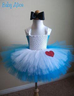 Infant Baby Alice in Wonderland Costume Tutu Dress by JustaLittleSassShop