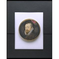 Miniature - Robert Dudley, Earl of Leicester. by Nicholas Hilliard